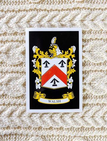 Walsh Clan Aran Baby Blanket