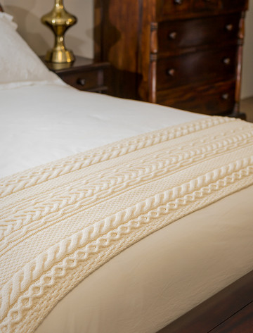 Moore Clan Aran Bed Runner
