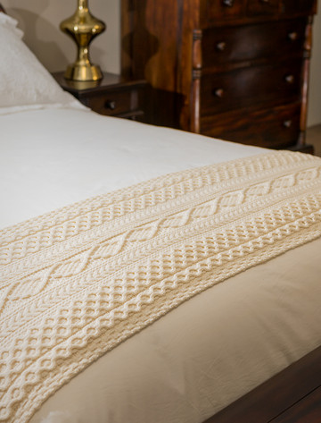 Flynn Clan Aran Bed Runner