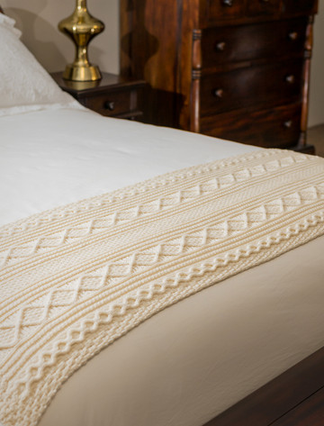 Carroll Clan Aran Bed Runner