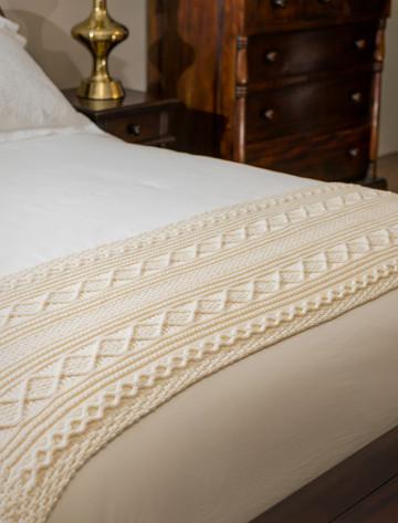 Carroll Clan Aran Bed Runner