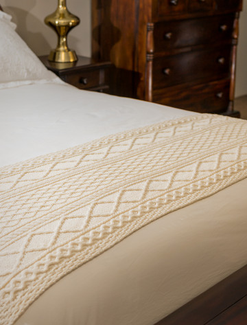 Kennedy Clan Aran Bed Runner