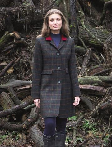 Pamela Tweed Coat – Primary Green