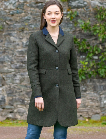 Pamela Tweed Coat - Winning Green