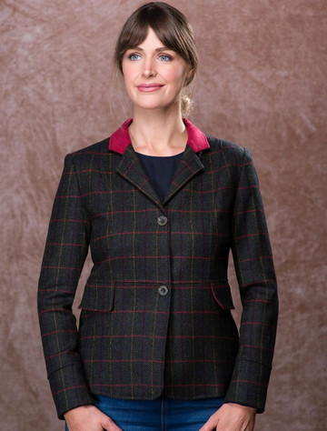 Donna Tweed Blazer – Primary Green
