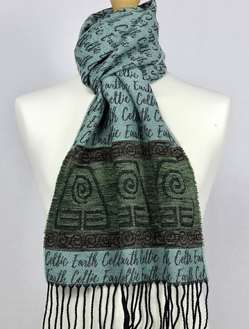 Celtic Border Element Scarf - Earth