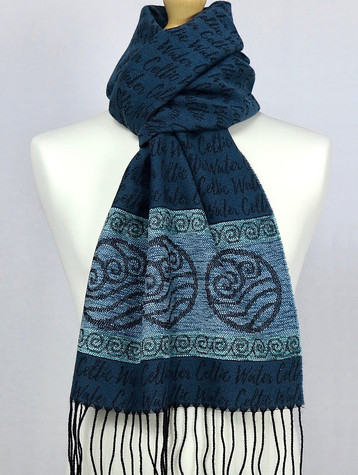 Celtic Border Element Scarf - Water