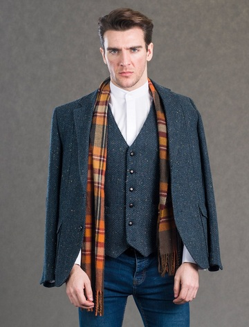 Kavanagh Blue Tweed Classic Fit Jacket