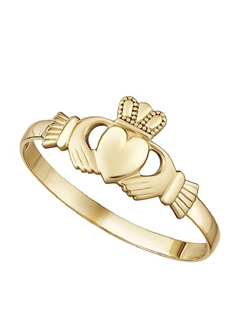 9K Gold Mini Claddagh Ring