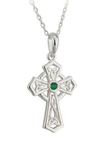 Sterling Silver Trinity Knot Cross Pendant