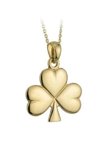 Gold Plated Shamrock Pendant