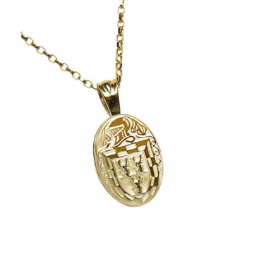 Doyle Clan Official Oval Pendant 10K Gold