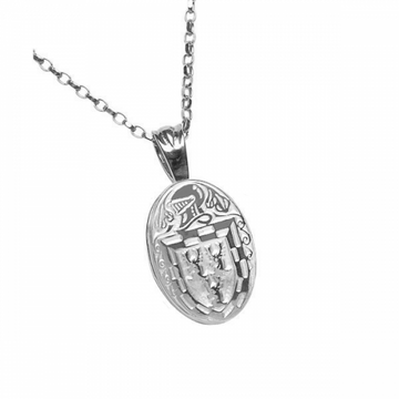 Doyle Clan Official Oval Pendant Sterling Silver