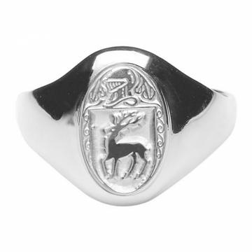 McCarthy Clan Ladies Sterling Silver Ring