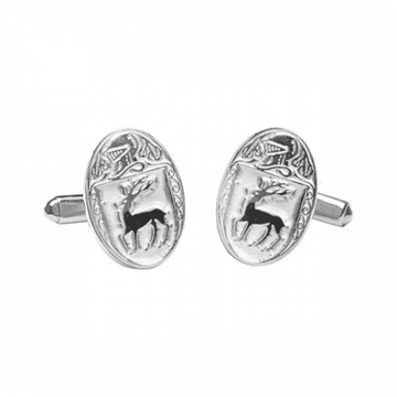 McCarthy Clan Official Large Cufflinks Sterling Silver