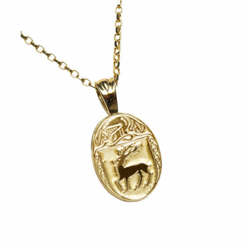 McCarthy Clan Official Oval Pendant 10K Gold