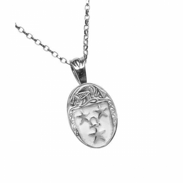 Murray Clan Official Oval Pendant Sterling Silver