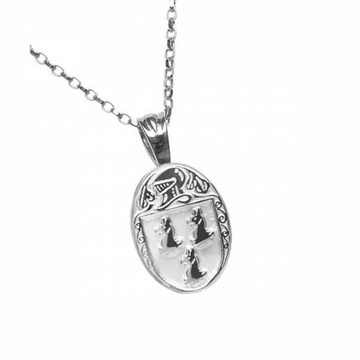 Ryan Clan Official Oval Pendant Sterling Silver