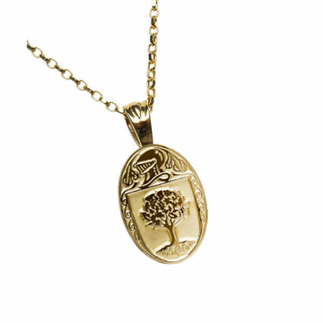 O'Connor Clan Official Oval Pendant 10K Gold