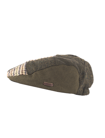 Heritage Patchwork Flat Cap – Multi Green Brown