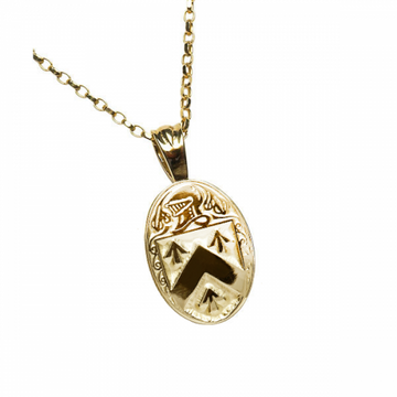 Walsh Clan Official Oval Pendant 10K Gold