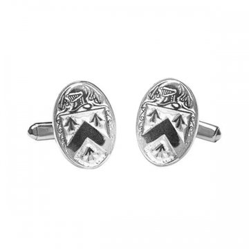 Walsh Clan Official Large Cufflinks Sterling Silver