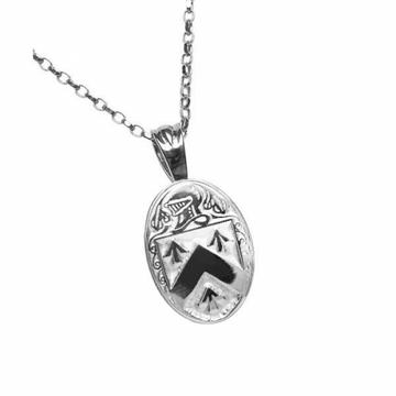 Walsh Clan Official Oval Pendant Sterling Silver