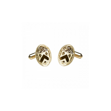 Walsh Clan Official Medium Cufflinks 10K Gold