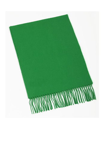 Fine Merino Scarf - Kelly Green