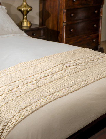 Costello Clan Aran Bed Runner