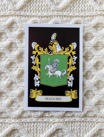 Maguire Clan Aran Bed Runner