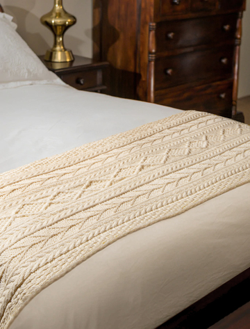 Malone Clan Aran Bed Runner