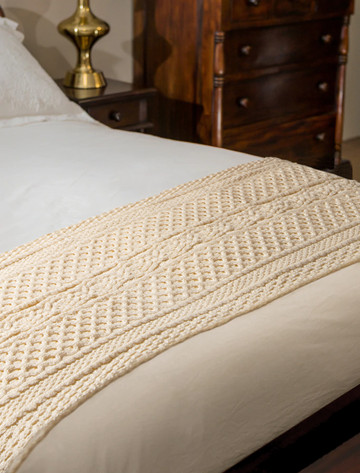 O'Leary Clan Aran Bed Runner