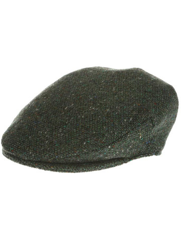 Vintage Tweed Flat Cap - Green Salt & Pepper