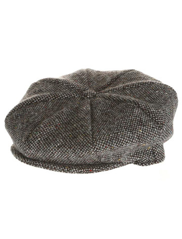 Abby Tweed 8 Panel Cap - Grey Salt & Pepper