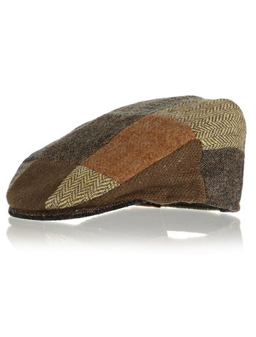 Children's Flat Cap Tweed - Patchwork
