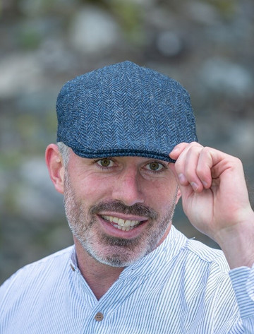 Donegal Touring Cap - Blue Herringbone