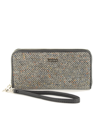 Mucros Tweed Purse- Grey Herringbone