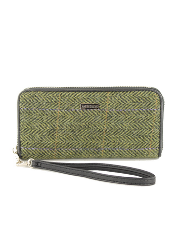 Mucros Tweed Purse- Light Green