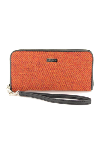 Mucros Tweed Purse -Rust Herringbone
