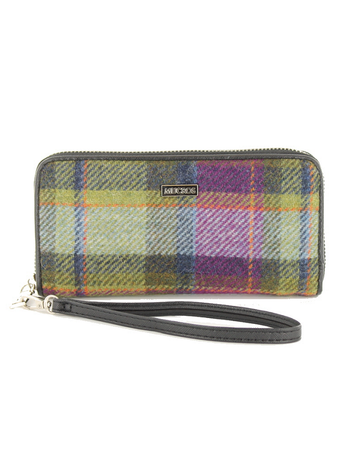 Mucros Tweed Purse - Multi-Vernal Plaid