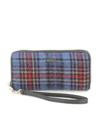 Mucros Tweed Purse - Blue & Red Plaid