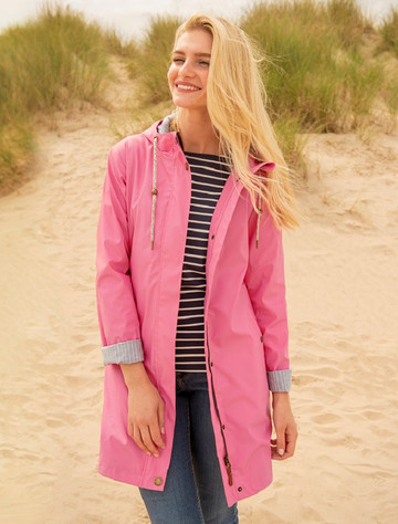 Bowline Ladies 3/4 Waterproof Coat - Soft Pink