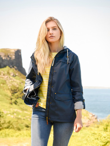 Bowline Ladies Short Waterproof Coat - Night Sky