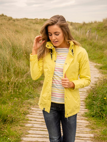 Beachcomber Ladies Waterproof Coat - Lemon