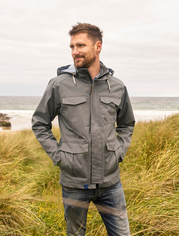 Grayson Men's Waterproof  Country Jacket - Charcoal