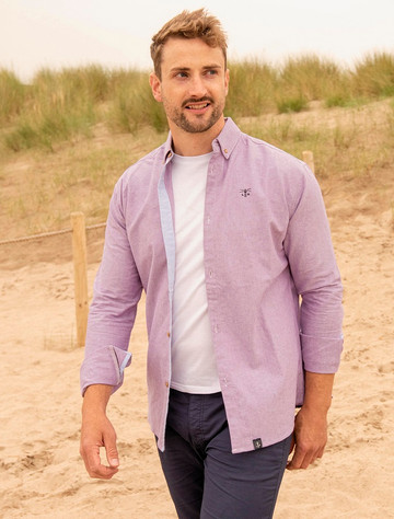Tide Mens Cotton Shirt - Grape