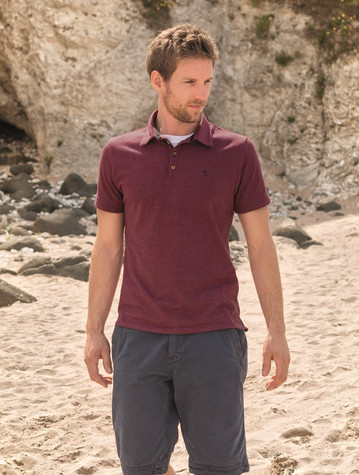 Pier Cotton Short Sleeve Polo Shirt - Bordeaux