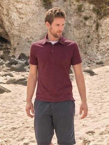 Pier Cotton Short Sleeve Polo Shirt - Bordeaux