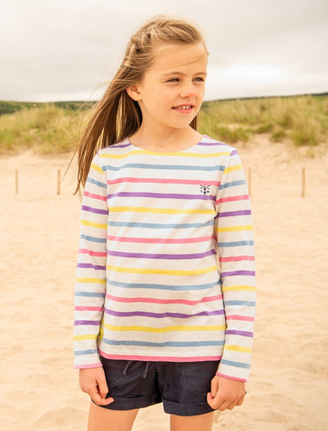 Causeway Girls Long Sleeve T-Shirt - Multi-Stripe